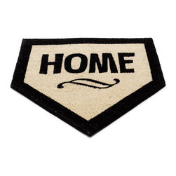 Modern Doormat - No one to take you out to the ball game? Then bring the ballgame out to you! This clever doormat ensures that everyone entering your house scores a run. Durable tufted coconut fiber is weather resistant and cleans up easily with a hose or brush, making it ideal indoors or out, while the home plate design puts you solidly in league with the boys of the summer. Now if someone will just buy the peanuts and cracker jacks!