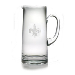 INSTEN - Fleur De Lis 60-ounce Tankard Pitcher - This tankard pitcher features a hand-cut fleur de lis pattern honed by the skilled artisans of Susquehanna Glass. Accent your home bar collection or give this large pitcher as a gift to a friend.