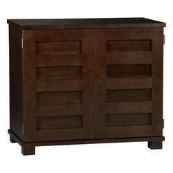 Incognito Mocha Compact Office - I love this piece because of its versatility. I recently recommended it to a client for use in her dining room that doubles as her office. She can use the top surface as a bar — party on the outside, all business inside!