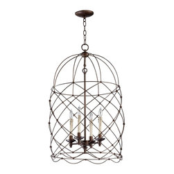 Cyan Design - Cyan Design 04756 Bird Cages Adele Transitional Foyer Light - Let your imagination soar with selections from our bird cage collection. Perched high above a dining table or entryway, these bird cage-inspired fixtures are sure to satisfy any flights of fancy.