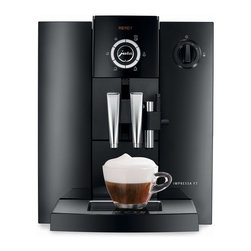 Jura Capresso - Jura Impressa F7 Automatic Coffee Center Multicolor - 13709 - Shop for Kettles (Stovetop) from Hayneedle.com! With the Jura Impressa F7 Automatic Coffee Center a world of choice is never more than a touch away. This Swiss made coffee center offers cappuccino at the touch of a button. It uses a simple flexible intuitive interface to deliver a wide variety of specialty coffees and it does it all with a sleek sophisticated modern design.Coffee Machine FeaturesVariable brewing chamber between 5-16 gramsIntelligent Pre-Brew Aroma SystemAdditional preground coffee powderHot water functionCappuccino frotherHeight-adjustable coffee spout cappuccino spout and water spoutCLARIS/CLEARYL filter cartridgeHigh performance pump 15 barThermoblock heating systemIntegrated rinsing cleaning and descaling programAdjustable water hardnessZero-Energy switch or power switchEnergy Save ModePowder recognition for additional ground coffee varietyIntelligent preheatingIntegrated storage compartmentSettings and ProgrammingProgrammable amount of waterAdjust water amount for each preparation4 programmable strength levelsAdjust coffee strength for each preparation2 programmable brewing temperature levels3 programmable hot water levelsRotary switchProgrammable switch-off timeIntegrated cappuccino rinsing and cleaning programMaintenance status displayCup illuminationAbout CapressoLaunched in 1994 Capresso provides innovative coffee equipment for professionals and home users alike. In 2002 Capresso merged with Jura AG a company founded in 1931 in Switzerland. Together Jura Capresso began to introduce the finest automatic coffee centers to the U.S. market. With friendly high-tech features like one-touch operation interchangeable frothers LED displays and high-pressure brewing Jura Capresso coffee machines have quickly become leaders in the industry. Through new patented designs their machines are constantly evolving to make it a pleasure for you to create delicious coffee with ease. J