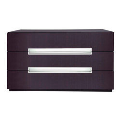 Modloft - Monroe Dresser in Wenge - TMonroe Wenge Dresser offers stainless groove handles matches any modern bedroom decor. Available in wenge or walnut finishes. Assembly required. This Dresser has hardwood construction. Imported.