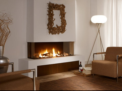 Trimless multi sided gas fireplaces for European home fireplace