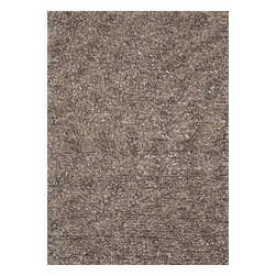 "Loloi - Shag Cleo Shag 3'6""x5'6"" Rectangle Stone Area Rug - The Cleo Shag area rug Collection offers an affordable assortment of Shag stylings. Cleo Shag features a blend of natural Stone color. Handmade of 100% Polyester the Cleo Shag Collection is an intriguing compliment to any decor."