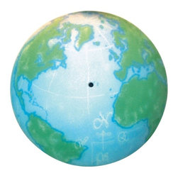 Elk Lighting - Semi-Flush Ceiling Light - 205-WM - Now you can give your child the world and improve decor. While staring at this illuminated world map, your young explorer will dream of visiting far-off locations and maybe even learn a little geography. The cheerful blue and green colors brighten the room with an earthy glow. This light has a 17-inch diameter bowl and comes with an easy-to-install ceiling-mounted base. The double-glass panes are silkscreened and sandblasted for a lustrous texture. Takes (3) 60-watt incandescent A19 bulb(s). Bulb(s) sold separately. Dry location rated.