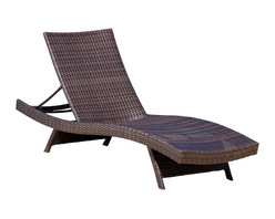 Great Deal Furniture - Lakeport Outdoor Wicker Lounge - We guarantee that you have never seen a more beautiful chaise lounge chair than the Lakeport Outdoor Adjustable Chaise Lounge Chair. This chaise lounge chair is weather-resistant and has an adjustable angle back and folding legs for easy stacking. Its natural colors combine with its exotic styling to create a one-of-a-kind design that is perfectly suited for use beside a pool. The smooth, soft wicker is weather resistant and is carefully and meticulously crafted and shaped to form gorgeous curves that not only look great, but also seemingly wrap to your body, creating a luxurious escape to peace and quiet. The chair is absolutely ideal for sunbathing. The slight curves of the chair and the adjustable angle backrest help your face, chest, and legs be better-angled towards the sun for a better tan. Plus, since this chair needs no armrests, you don't have to worry about obstructions creating shade that can result in an uneven tan.