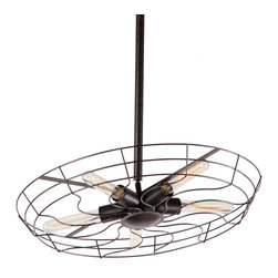 Zuo Modern Contemporary, Inc. - Tellurium Ceiling Lamp Rust Black - The love child of a light fixture and a vintage fan, the Tellurium Ceiling Lamp is lovely and memorable. Rust black with four slender light bulbs. Adds a tinge of summer to any space.