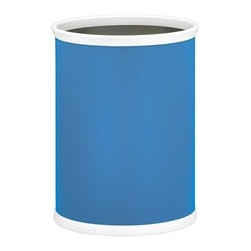 Kraftware - Bartenders Choice Fun Colors Oval Wastebasket in Blue - Made in USA. 12 in. W x 8 in. D x 15 in. H (2 lbs.)Our fun colors collection features the hottest colors for the season, to provide you with great entertaining items, with up to the minute styling. Great for indoor and outdoor entertaining.