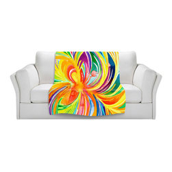 DiaNoche Designs - Throw Blanket Fleece - Seat of the Soul - Original artwork printed to an ultra soft fleece blanket for a unique look and feel of your living room couch or bedroom space. Dianoche Designs uses images from artists all over the world to create Illuminated art, canvas art, sheets, pillows, duvets, blankets and many other items that you can print to. Every purchase supports an artist!