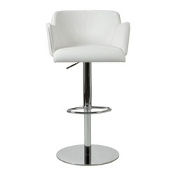 Euro Style - Euro Style Sunny Bar / Counter Chair X-THW12671 - Finish: White Leatherette/Chrome.