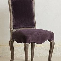 Anthropologie - Velvet Beatrix Chair - *Grey-washed finish