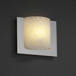 Justice Design Group LLC - Justice Design Group FSN-5560 - Framed Square 3-Sided Wall Sconce (ADA) - Polish - Shop for Wall Mounted Lighting and Sconces from Hayneedle.com! About Justice DesignEndless inimitable lighting that's what Justice Design deals in. More than 200 different shapes. More than 35 different finishes. That's a huge amount of customization -- right at your fingertips. Speaking of fingertips each fixture is painstakingly crafted by skilled artisans by hand. Whether you're looking for indoor or outdoor lighting residential or commercial Justice Design is sure to have just the right fixture to match your needs and personality.