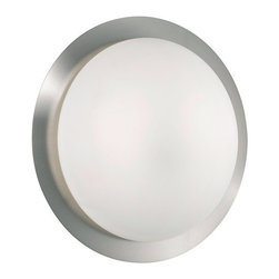 Eglo - Eglo 88096 Orbit 1 Two-Bulb Wall Sconce - Orbit 1 Two-Bulb Wall SconceThe perfect accent to any decor, the simplistic round aesthetic of the Orbit 1 collection brings a quiet distinction and beauty to your home.Product Features: