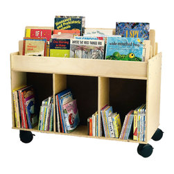 Whitneybrothers - Whitney Brothers Home Kids Children Mobile Book Storage Island - Talk about a mobile library. This sturdy two-sided cabinet has room for hundreds of books along with compartments underneath for magazines, supplies, etc. Features heavy-duty casters so one adult can move it around the room or school. Minor assembly required. GreenGuard certified. Made in USA. Lifetime Warranty.