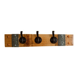 Alpine Wine Design - Bronze Key Rack - Hardworking pieces like this are the key to a well-run household. Not only will it keep your keys from getting lost under a pile of papers, it's also sturdy enough to use as a coatrack. Variations in wood grain, stain and aged patina give each piece one-of-a-kind character.