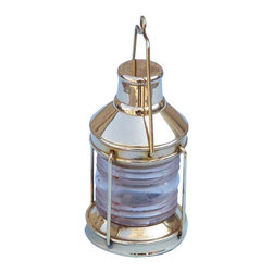 """Handcrafted Model Ships - Brass Lantern Paperweight 5"""" Unique Nautical Gifts Nautical Home Decorations - Handcrafted from gleaming solid brass, this fabulous Brass Lantern Paperweight 5"""" is the perfect addition to any desk - whether at home or in the office. As both a good luck charm and an icon of sailing, the brass lantern is a classic symbol of sailing, stylishly recreated to hold down all of your important papers in elegant fashion. Dimensions: 2"""" Long x 2"""" Wide x 5"""" High"""