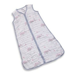 """Aden + Anais - aden + anais """"For the Birds - Owl"""" Cozy Muslin Sleeping Bag - This 4-layer, 100% cotton muslin sleeping bag is designed to be worn over a baby's pajamas to ensure a safe night's sleep by eliminating loose crib blankets. This lightweight bag is perfect for keeping your baby at the right temperature."""