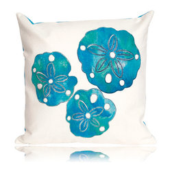 Sand Dollar Pillow - Charming, colorful and exquisitely made by Liora Manne, the Sand Dollar pillow is one of the newest in her patented line of Lamontage textiles. Handmade artistry, super soft microfiber and unsurpassed durability.