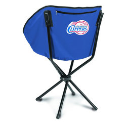 "Picnic Time - Los Angeles Clippers Sling Chair in Navy - The Sling Chair by Picnic Time is a portable, folding chair you can take anywhere. The chair opens to 20"" wide x 14"" deep x 30"" high. No loose parts It's so compact and convenient, you may just want to keep it in the trunk of your car!; Decoration: Digital Print; Includes: 1 nylon drawstring carry bag"