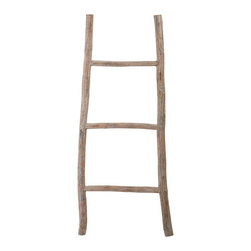 Lazy Susan - Wood White Washed Small Ladder - Wood White Washed Small Ladder