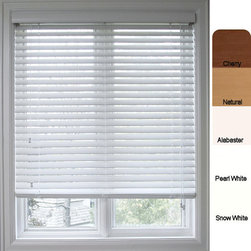 Safe-er-Grip - Customized Faux Wood 31.5-inch Window Blinds - Dress up your home decor with beautiful blindsFaux wood 2-inch window blinds offer all the style of wood blindsWindow treatment is crafted of a polyvinyl composite designed to withstand changes in the environment