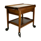 Lavish Shoestring - Consigned Extending Tea or Drinks Trolley with Trays by Welters, Vintage English - This is a vintage one-of-a-kind item.