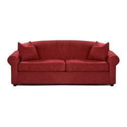 Savvy - Chicago Queen Sleeper Sofa, Fastlane Red, Queen Sleeper, Gel Memory Foam Mattres - Chicago Queen Sleeper Sofa in Fastlane Red