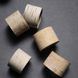 Split Birch Napkin Rings - These birch napkin rings will add a polished rustic touch to your table. Yes, that's right, rustic style that's polished.