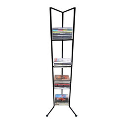 Pangaea Home and Garden - Olympus CD Holder Large in Black - Attractive handmade CD-tower. Five tier CD-tower holds 90 CDs. Year round weather resistance. Environment friendly product. Made from recycled wrought iron. Powder-coated finish. 12 in. W x 12 in. D x 45 in. H