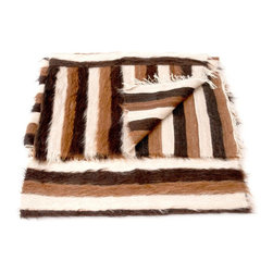 SOLD OUT!  Mid Century Throw with Shaggy Stripes - $180 Est. Retail - $125 on Ch -