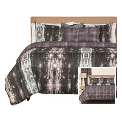 SIS Covers - SIS Covers Python Duvet Set - 6 Piece King Duvet Set - 5 Piece Twin Duvet Set Duvet 67x88, 1 Std Sham 26x20, 1 16x16 dec pillow, 1 26x14 dec pillow. 6 Piece Full Duvet Set Duvet 86x88, 2 Std Shams 26x20, 1 16x16 dec pillow, 1 26x14 dec pillow. 6 Piece Queen Duvet Set Duvet 94x98, 2 Qn Shams 30x20, 1 16x16 dec pillow, 1 26x14 dec pillow. 6 Piece California King Duvet Set Duvet 104x100, 2 Kg Shams 36x20, 1 16x16 dec pillow, 1 26x14 dec pillow6 Piece King Duvet Set Duvet 104x98, 2 Kg Shams 36x20, 1 16x16 dec pillow, 1 26x14 dec pillow. Fabric Content 1 100 Polyester, Fabric Content 2 100 Polyester, Fabric Content 3 100 Polyester. Guarantee Workmanship and materials for the life of the product. SIScovers cannot be responsible for normal fabric wear, sun damage, or damage caused by misuse. Care instructions Machine Wash. Features Reversible Duvet and Shams.