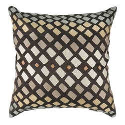 Rizzy Home - Brown and Tan Decorative Accent Pillows (Set of 2) - T2815A - Set of 2 Pillows.