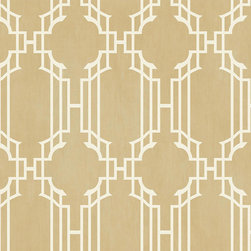 Ballard Designs - Lattice Sidewall Wallpaper Champagne/White Double Roll - Double roll. Pre-pasted. Washable. Strippable. A contemporary twist on a traditional classic, this textural wallpaper takes the basic traditional stripe motif and adds a layer of sophistication with an elegant lattice design resting on top. Lattice Sidewall Wallpaper features: . . . .