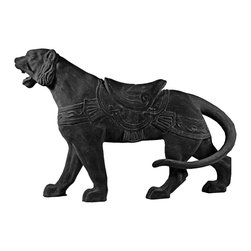 Amedeo Design, LLC - USA - Carousel Tiger Statue - Our Carousel Lion comes from part of our Carousel Series, our Lioness is majestic and a total delight for all ages. TOur products are made of lightweight weatherproof ResinStone. So authentic, you actually have to lift them to convince yourself they're not stone at all! Made in USA.
