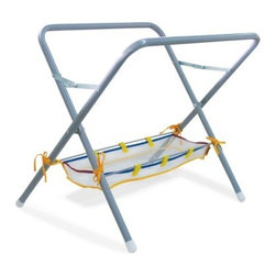 Edushape Activity Tub with Stand - The Edushape Activity Tub with Stand is great fun for indoor or outdoor. Independent play or collective. Includes activity tub and netting. Use with water and sand bathtub yard pool or with general toy play. Displayed stand dimensions: 33W x 30H inches. The stand easily folds when not in use.