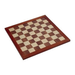 Jaques 18 in. Staunton Chess Board - Jaques of London had their work cut out for them when it came time to create a board that bears the legendary Staunton name. The Jaques 18 in. Staunton Chess Board rises to that challenge and complements the Staunton collection fabulously. Made of rich walnut and sycamore for beauty and reliability, this chess board works great for play as well as decorative display purposes. It measures a respectable 20L x 20W x .5H inches with 1.75 inch squares which a perfectly suited for a king piece 3.5 inches tall. Never place a Staunton pawn on anything less.About Jaques of LondonAs the oldest games company in the world, the name Jaques is inexorably intertwined with the history of almost any classic game. After literally inventing croquet, popularizing the gold-standard Staunton chess pieces everyone recognizes, and building a series of other games and items with the finest wood in the world, Jaques has continued to reinvent itself. Today, they produce game pieces and sets of the utmost quality in the strongest, rarest, and best-looking materials on Earth. When you're look to look refined playing chess, croquet, ping pong, backgammon, snakes and ladders, or any other wooden game, look to Jaques of London.