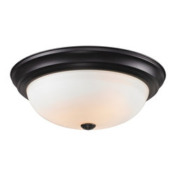 Z-Lite - Z-Lite Athena Ceiling Light X-3F2112 - This three light Ceiling Light fixture is comprised of an elegant bronze finish and paired with matte opal shade. Along with its simple detailing, this fixture makes a chic addition to any room.