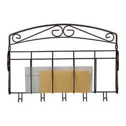 home basics - Bronze Letter & Key Rack - Find keys with ease using this sleek rack that boasts a durable construction and lightweight design.   14'' W x 9'' H x 3'' D Metal Imported