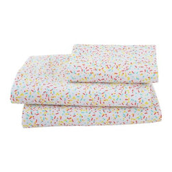 Sunday Best Sheet Set - I love that these sprinkle sheets can grow with your child and that they'll be equally loved by 3-year-olds and teenagers.