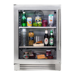 """24"""" Glass Door Undercounter Refrigerator - In the kitchen or next to the grill, the True Professional Series®Undercounter Refrigerator gives you complete cooling flexibility wherever you need it. With the only glass door in the industry that's UL-rated for outdoor use, it's the perfect combination of performance, style, and design for real life."""