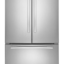 Whirlpool - WRF540CWBM 19.6 Cu. Ft. Counter-Depth French Door Refrigerator  5 Frameless Glas - The WRF540CWB 196 cu ft counter-depth Frech door refrigerator has an assortment of features from a Accu-Chill temperature management system The contemporary design brings a modern look to the kitchen with a french door refrigerator that feature smoot...