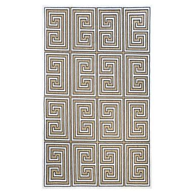 nuLOOM - nuLOOM Indoor/ Outdoor Greek Key Porch Rug, (5' X 8') - Material: 100% Polypropylene
