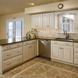 """Period Inspired Restored Kitchen Cabinets - Period Inspired """"Colonial"""" paint with hand applied ..."""