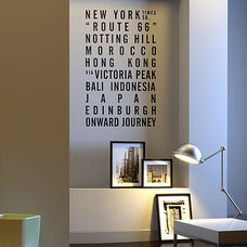 personalised destination wall sticker by sunny side up | notonthehighstreet.com