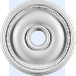 """Inviting Home - Seattle Ceiling Medallion - ceiling medallion diameter - 18"""" depth - 1-1/16"""" hole diameter - 3-1/2"""" Seattle medallion molded in deep relief design with beaded trim. Decorative medallion comes factory primed and is suitable for painting glazing or faux finish. Ceiling medallion manufactured from high density furniture grade polyurethane. Decorative medallion is water and heat resistant impervious to insect infestation and odor free due to the weight dimensional stability precise tolerances and flexibility."""