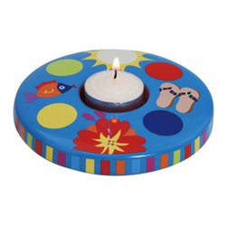 "WL - 4.5"" Blue Tropical Fish and Flip-flop Motif Tea Light Candle Holder - This gorgeous 4.5"" Blue Tropical Fish and Flip-flop Motif Tea Light Candle Holder has the finest details and highest quality you will find anywhere! 4.5"" Blue Tropical Fish and Flip-flop Motif Tea Light Candle Holder is truly remarkable."