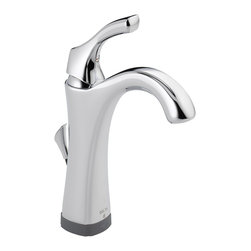 Delta Single Handle Lavatory Faucet with Touch2O.xt(TM) Technology - 592T-DST - Inspired by the delicate scallops of a seashell, Addison brings a fresh, inviting look - and a multitude of options - to your decor.