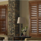 Window Shutters- 3 Day Blinds Living Room - Many are in the search for the perfect house shutters for their home. 3 Day Blinds offers a variety of window shutter options in many wood blends and stained. White shutters or plantation shutters will give your home a light airy look, while darker blends of wooden shutters will compliment spaces with natural wood flooring and furnishings.