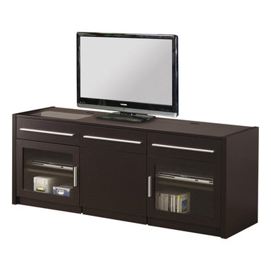 Modern Kitchen Glass Front Cabinets Media Storage: Find TV Stands and ...