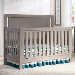 Simmons Kids - Simmons Kids Chevron 4-in-1 Convertible Crib-N-More - 319180-054 - Shop for Cribs from Hayneedle.com! Designed to grow with your child the Simmons Kids Chevron 4-in-1 Convertible Crib-N-More features a classic style that will look sophisticated and elegant through the years. Beautifully made this crib features a gorgeous chevron wood-grain pattern that is perfectly highlighted by each non-toxic finish option. Designed to convert from a crib to a toddler bed to a daybed and finally to a full-size bed your baby will be using this bed until after high school. Crafted from strong and durable wood this crib features a three-position mattress adjustment so you can easily lower the mattress as your baby grows. JPMA certified this crib meets or exceeds ASTM standards and fits standard-size crib mattresses (not included). Additional Features 3-position mattress height adjustment Fits standard-size crib mattress Daybed rail included Toddler rail not included Conversion rails not included Simmons Kids: The Natural Choice for BabyFrom a company equated with a good night's sleep come the same high-quality products geared for babies and kids. Exciting lines and collections offer the latest and enduring styles for the nursery and the years beyond. Convertible cribs beautiful dressers and chests and everything else you can imagine for the nursery is well-crafted by Simmons. Best of all every piece of Simmons Kids Furniture meets or exceeds federal safety standards.